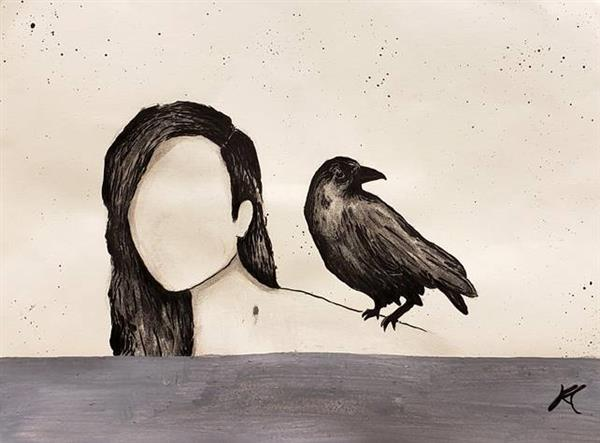 KCroman Crow Heart