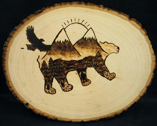 KJohnson Wood Burn Bear