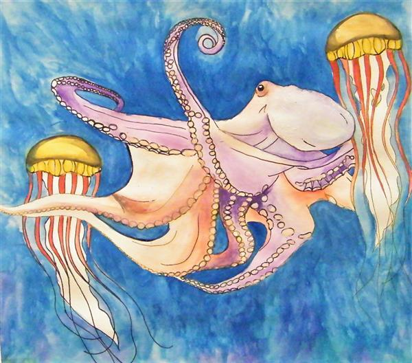 MiddletonS Octopus and two Jellies