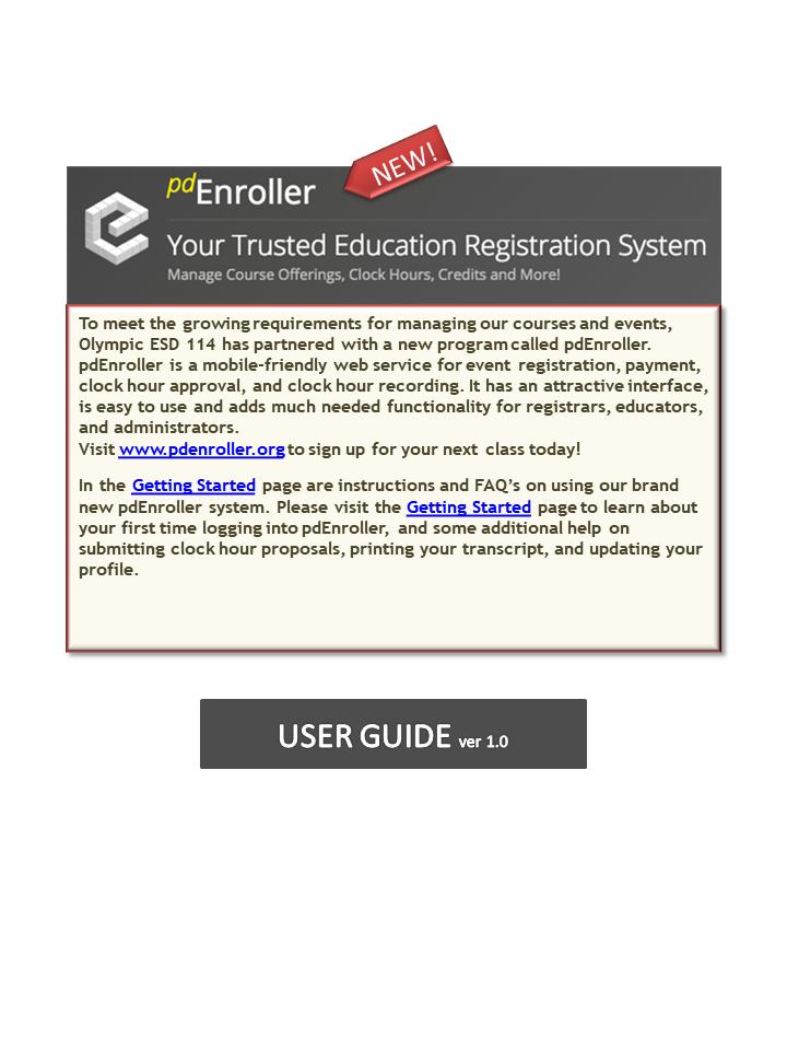 pdEnroller User Guide slide 1 of 5