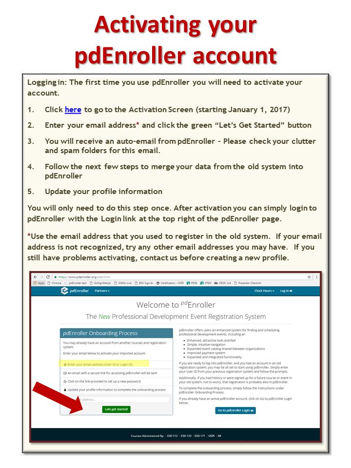 pdEnroller User Guide slide 3 of 5