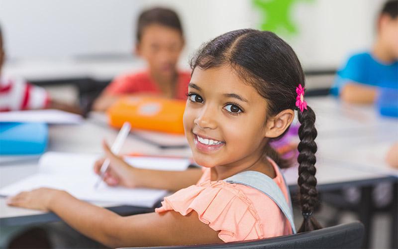 Kid in class