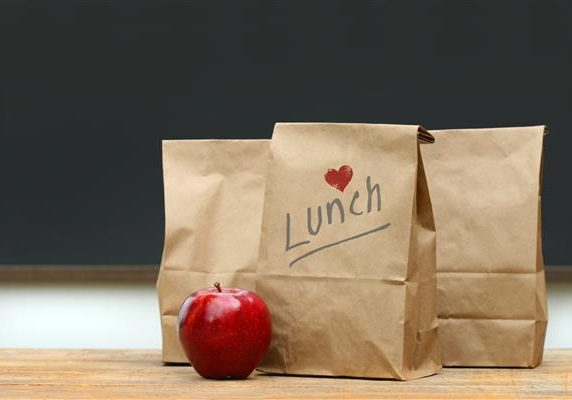 Sack Lunch with Apple shutterstock_32336149